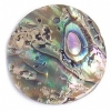 Shell Pendant With Top Hole 25mm Round Flat Abalone